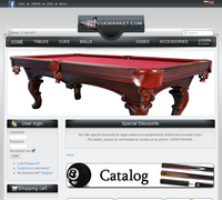 Billiardshop.bg - online store for billiard and snooker accessories, billiard tables, snooker tables, billiard cues, snooker cues, lightning and all kind of accessories for billiard and snooker